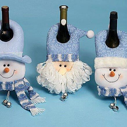 Чехол на бутылку шампанского на новый год