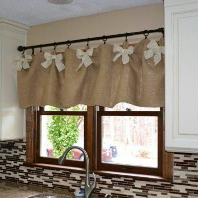 короткие кухонные шторы для кухни
