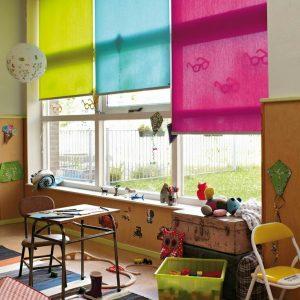 римские шторы цветные