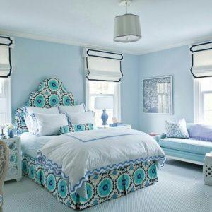 текстиль в спальню и римские шторы