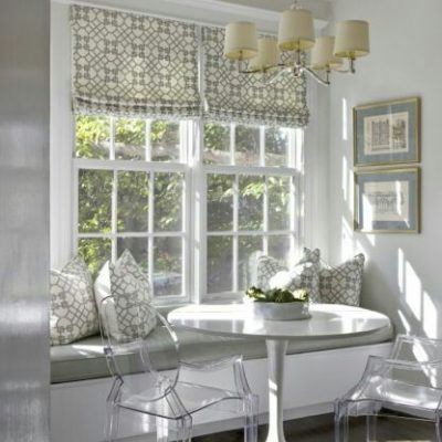 римские шторы в столовой