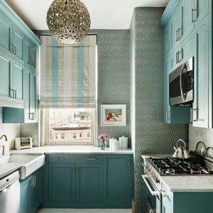римская штора на кухню полоса