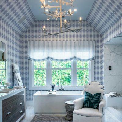 римские шторы для ванной