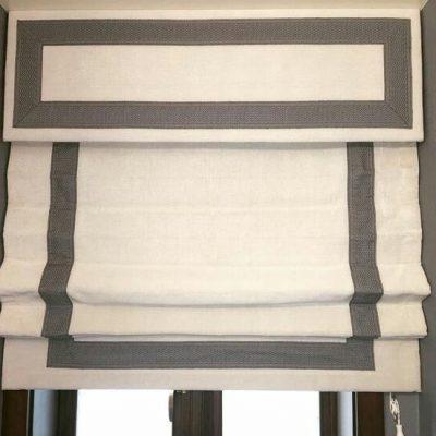 классические римские шторы с лабрекеном