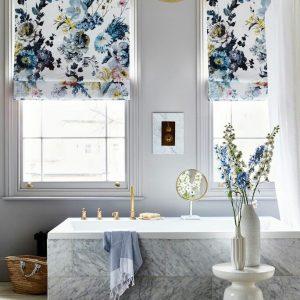римские шторы для ванной прованс