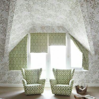 римская штора для створки