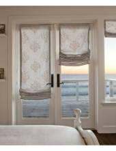 римские шторы на дверь