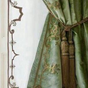 шторы прованс с кистью