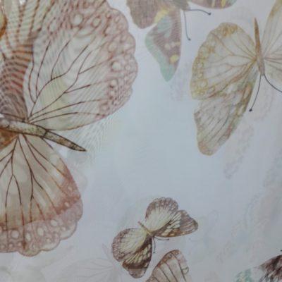 тюль бабочка коричневая