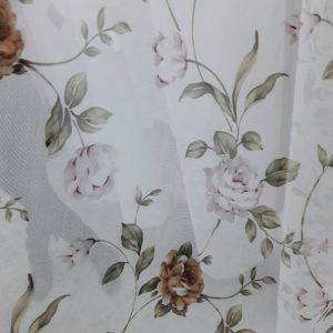 тюль цветок роза белая