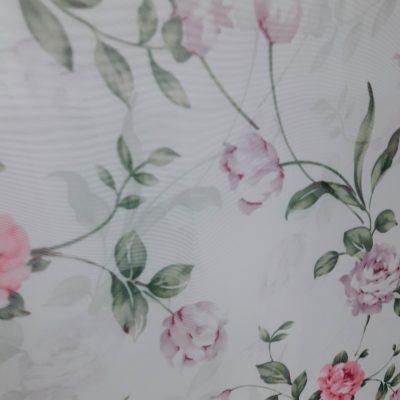 тюль цветок роза