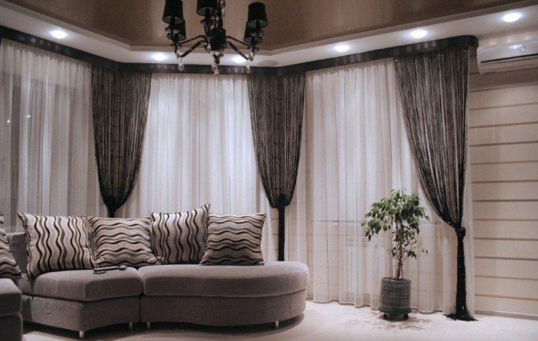 шторы тюль дизайн фото