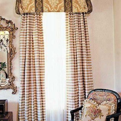 красивые шторы с лабмбрекеном