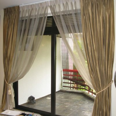 шторы для французского окна