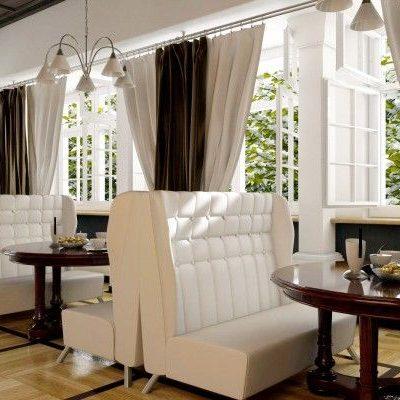 комбинированные шторы для ресторана