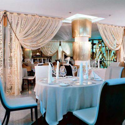 шторы для ресторана с подхватом
