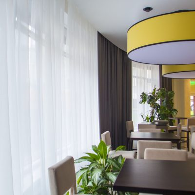 шторы и тюль для ресторана