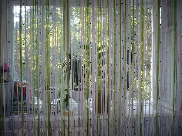 шторы нити кисея