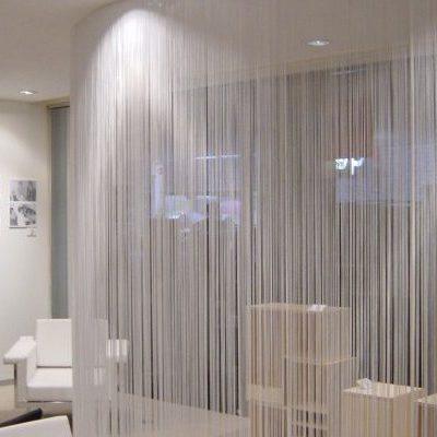 шторы нити в зал гостиную